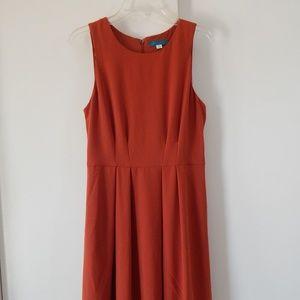 orange PIM + LARKIN dress fit flare pockets M